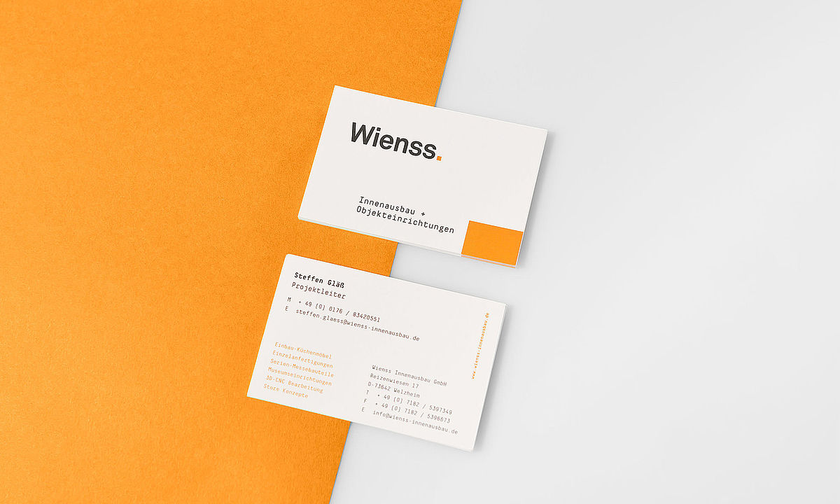 Wienss Innenausbau Corporate Design
